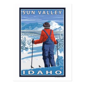 Cartão Postal Admiração do esquiador - Sun Valley, Idaho