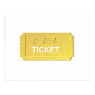 Cartão Postal Admita um bilhete