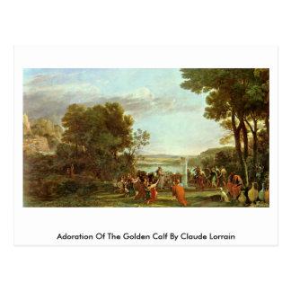 Cartão Postal Adoração da vitela dourada por Claude Lorrain