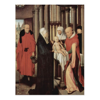 Cartão Postal Adoração de Hans Memling- dos Magi