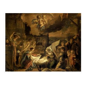 Cartão Postal Adoração do Natal das belas artes dos pastores