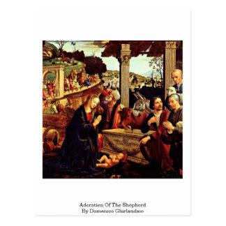 Cartão Postal Adoração do pastor por Domenico Ghirlandaio