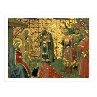 Cartão Postal Adoração dos Magi, detalhe de uma placa do