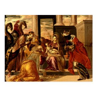 Cartão Postal Adoração dos Magi - Greco
