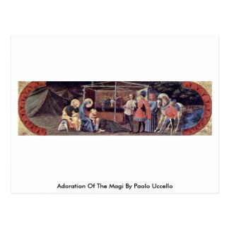 Cartão Postal Adoração dos Magi por Paolo Uccello