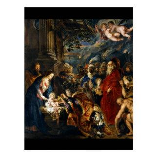Cartão Postal Adoração dos Magi por Rubens