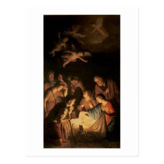 Cartão Postal Adoração dos pastores, 1617 (óleo em canvas)