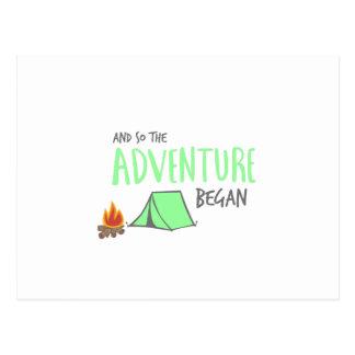 Cartão Postal adventurebegan