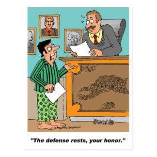 Cartão Postal Advogado vestido nos pijamas