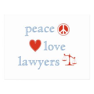 Cartão Postal Advogados do amor da paz
