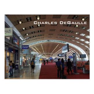 Cartão Postal Aeroporto internacional de Charles de Gaulle
