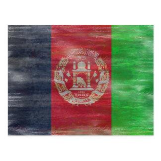 Cartão Postal Afeganistão afligiu a bandeira afegã