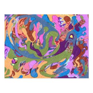 """Cartão Postal """"Afogando"""" a arte abstracta"""
