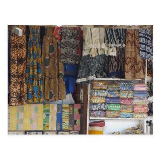 Cartão Postal África, Ghana, Accra. Matéria têxtil & artesanato