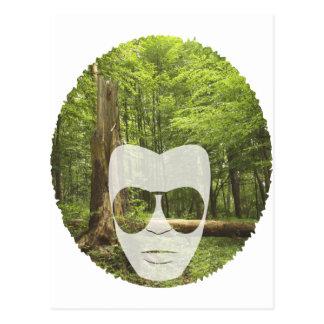 Cartão Postal Afro da floresta