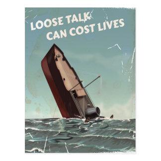 Cartão Postal Afrouxe o poster das vidas WW2 do custo da