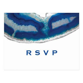 Cartão Postal Ágata azul RSVP