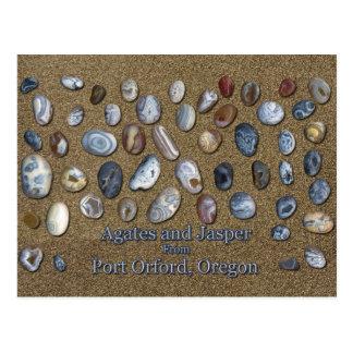 Cartão Postal Ágatas e jaspe do porto Orford Oregon