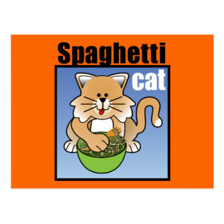 Cartão Postal Agitação do gato dos espaguetes