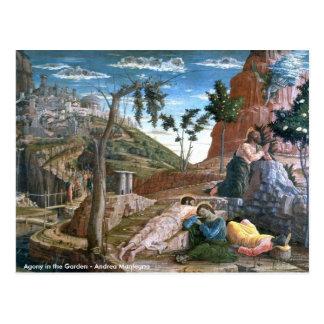 Cartão Postal Agonia de Andrea Mantegna no jardim