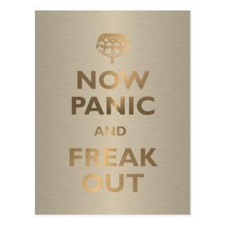 Cartão Postal Agora pânico e arrepiante para fora
