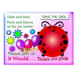 Cartão Postal Agrade-me cor-de-rosa