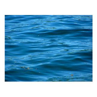 Cartão Postal Água azul do oceano