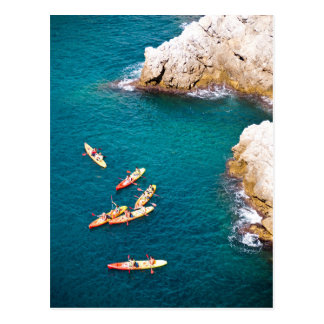 Cartão Postal Água azul que Kayaking