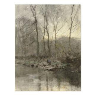 Cartão Postal Água da borda da floresta, malva de anton