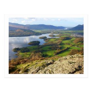 Cartão Postal Água de Derwent do Crag de Walla