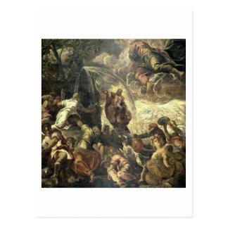 Cartão Postal Água impressionante da rocha, 1575 de Moses
