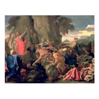 Cartão Postal Água impressionante da rocha, 1649 de Moses