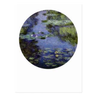 Cartão Postal Água-Lírios por Monet