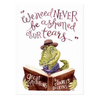 Cartão Postal Aguarela inspirador Croc das citações de Charles