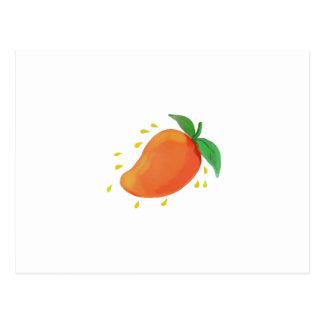 Cartão Postal Aguarela suculenta da fruta da manga