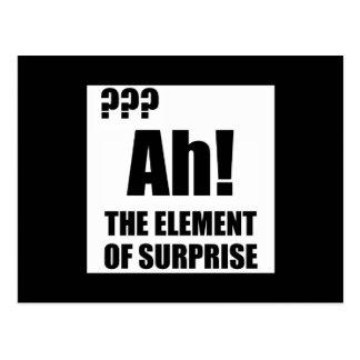 Cartão Postal Ah elemento de surpresa