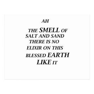 Cartão Postal ah o cheiro do sal e da areia lá está no elixir o