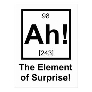 Cartão Postal Ah o elemento do símbolo periódico do elemento da