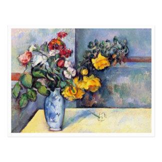 Cartão Postal Ainda flores da vida em um vaso por Paul Cezanne
