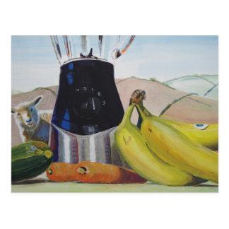 Cartão Postal Ainda misturador dos vegetais de fruta da pintura