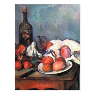 Cartão Postal Ainda vida com cebolas - Paul Cézanne