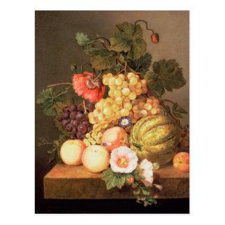 Cartão Postal Ainda vida com fruta