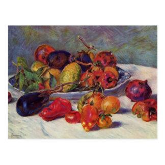 Cartão Postal Ainda vida com fruta - Pierre-Auguste Renoir