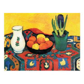 Cartão Postal Ainda vida com frutas daqui até agosto Macke