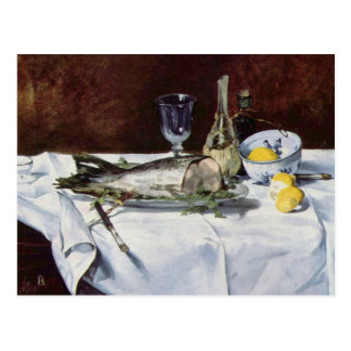 Cartão Postal Ainda vida com salmões - Edouard Manet