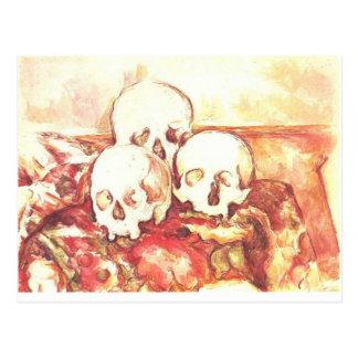 Cartão Postal Ainda vida com três crânios