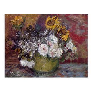 Cartão Postal Ainda vida floral impressionista - Vincent van