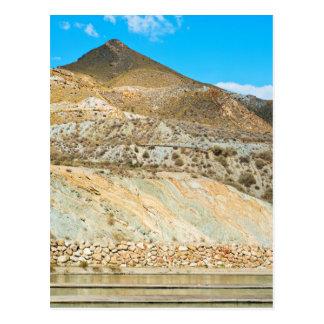 Cartão Postal Ajardine o deserto em Almeria, a Andaluzia,