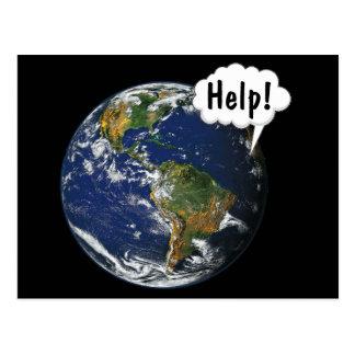 Cartão Postal AJUDA! Salvar o mundo