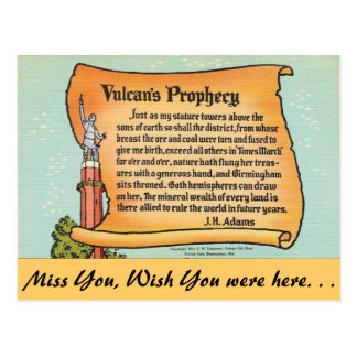Cartão Postal Alabama, a profecia de Vulcan